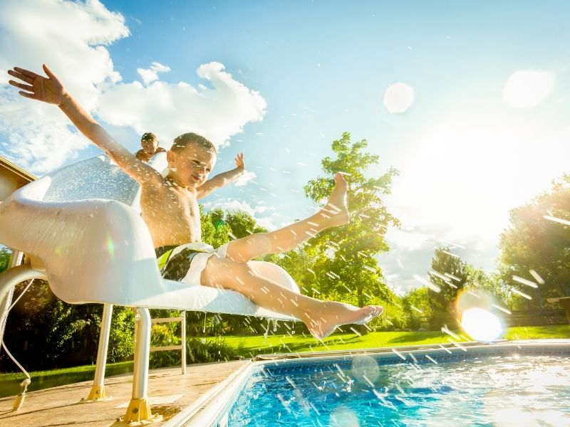Toboggan piscine - Equipements de piscine